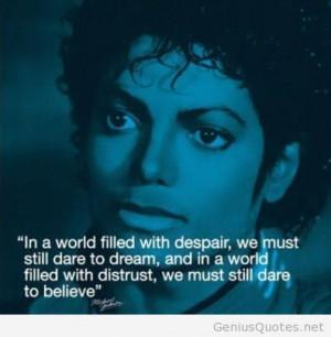 Best Michael Jackson quote ever