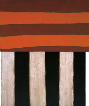 Catherine 1983 Sean Scully Oil on canvas, two panels Overall 115 x 96 ...