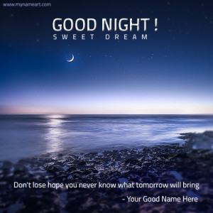 Good Night Wishes With Quotes And Name