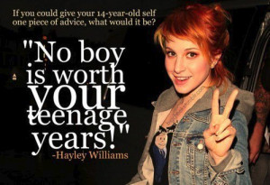 hayley williams, paramore, quote - inspiring picture on Favim.com