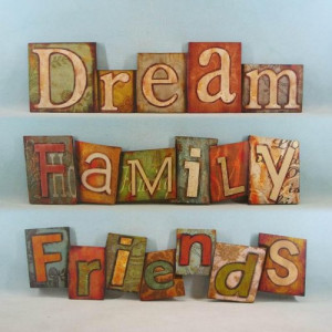 ... Set of 3 Decorative Inspirational Wood Block Wall Plaques by Yeatts