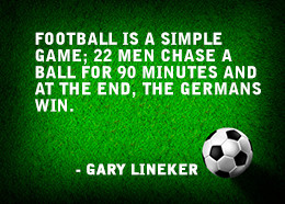 Funny soccer quote by Gary Lineker