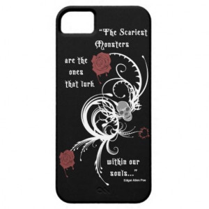 Scary Gothic Edgar Allen Poe Quote iPhone 5 Case