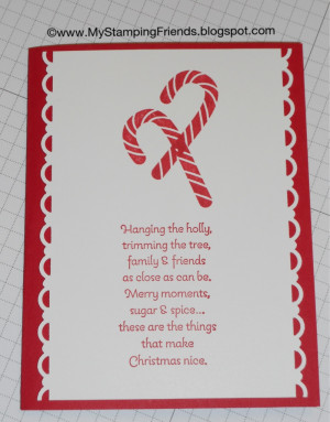 Candy Cane Christmas card using Scentsational Season and More Merry ...