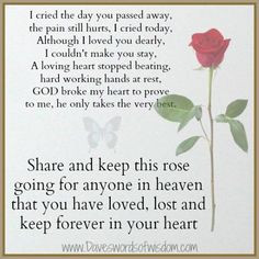 dad who passed away need poem or saying