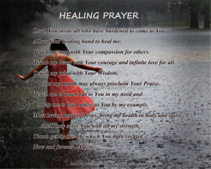 Healing Prayer Quotes You can try these prayers by