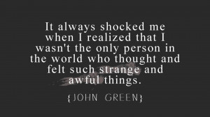 The world of John Green in ten quotes