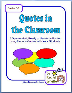 Free Quotes in the Classroom Worksheets