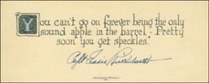Autographs: MAJOR EDWARD V. EDDIE RICKENBACKER - QUOTATION SIGNED