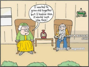 old married couple cartoons, old married couple cartoon, funny, old ...