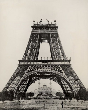 Eiffel Tower being built