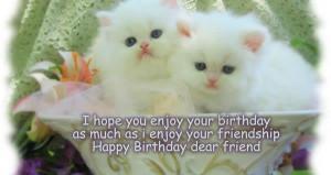Cute birthday friendship cards