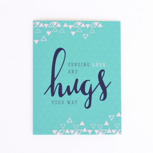 Sympathy Card, Sending Love & Hugs Card, Thinking Of You Card, Get ...