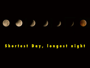 Longest night, shortest day approaches