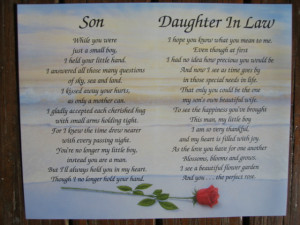son daughter in law personalized poem