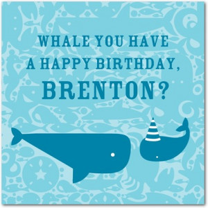 Deep Sea Sayings - Birthday Greeting Cards - DwellStudio - Powder Blue ...