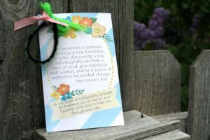 Girls camp handout - Friendship bracelet scripture quote INSTANT ...
