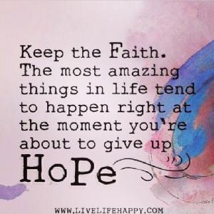 keep your faith quotes