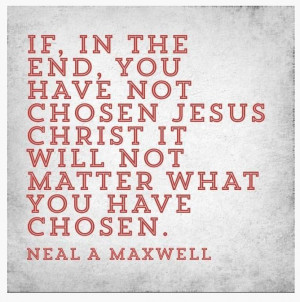 ... what you have chosen.