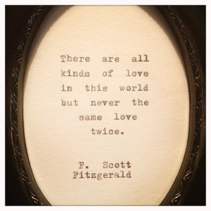 Scott Fitzgerald Framed Love Quote Made On by farmnflea on Etsy, $23 ...