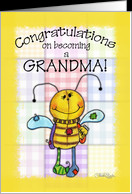 Congratulations on Becoming a Grandma- Primitive Bee card - Product ...