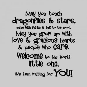 Nursery Wall Quotes - May you touch dragonflies and stars, dance with ...