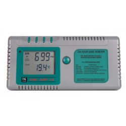 Indoor Carbon Dioxide and Temperature Analyzer by Kane International