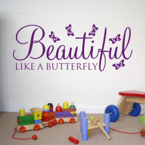 quotes butterfly wall decor for kids wall quote decals vinyl