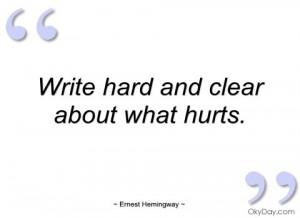 Hemingway quote- LOVE Hemingway!