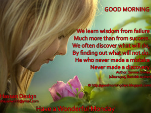 Good Morning Monday. 8 Inspiring Beautiful Quotes for the day
