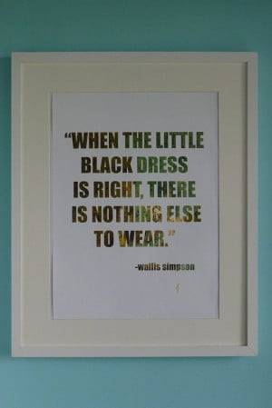 Wallis Simpson Quote 24K Gold by ISeeNoise on Etsy, $40.00