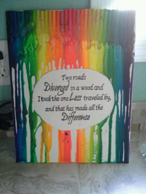 Melted Crayon Art With Quotes Melted crayon art