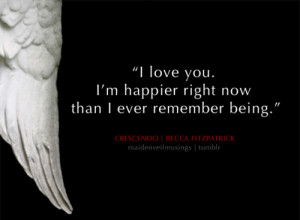 Quote - Especial Hush Hush: I love you