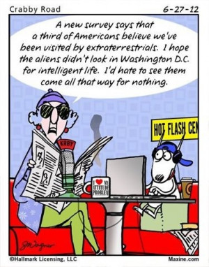 Maxine ... politicians and intelligent life