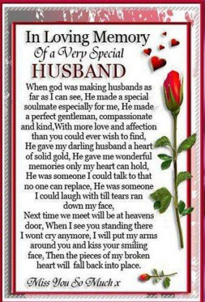 for those Husbands in heaven...