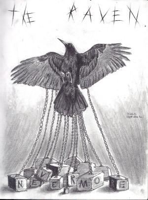 The Black Cat Edgar Allan Poe Book Cover The raven-tribute to edgar