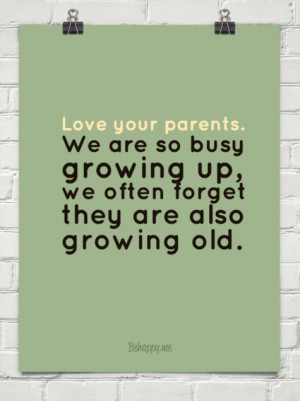 ... so busy growing up, we often forget they are also growing old. #5405