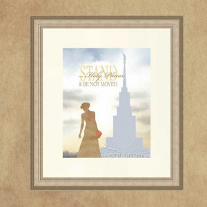 Stand in Holy Places Silhouette Temple 8x10 by Jabberdashery, $7.00