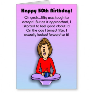 Funny Birthday Card: Celebrating 50th Birthday