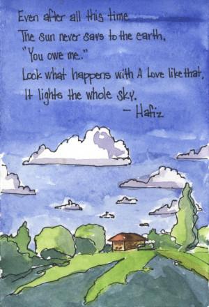 Hafiz Quotes Sun Hafiz quotes s.