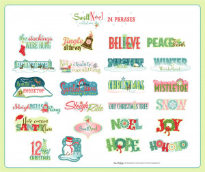 ... sayings, phrases and song lyrics to embellish your holidays crafting