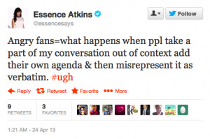 Essence Atkins Says Tyler Perry Quote Was Taken Out of Context