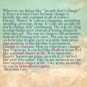 Change - Meredith Grey Quote