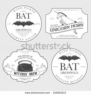 Related Pictures funny vintage halloween potion labels royalty free ...