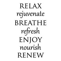 Spa Words Wall Quotes™ Decal. Repinned by CSpaBoston.com for mothers ...