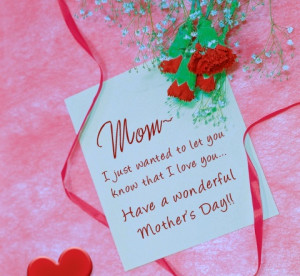 Quick Mother's Day Note