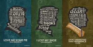 SuperNatural Inspired Quote Poster set by outnerdme
