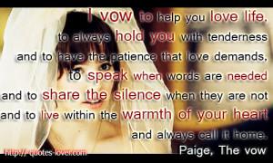 ... Marriage #LoveDeclaration #Movie #WeddingVow #Wedding #TheVow #PaigeIf