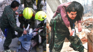 Chen Guangbiao gets his hands dirty volunteering at disaster zones in