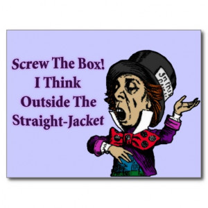 mad_hatter_funny_motivational_quote_post_cards ...